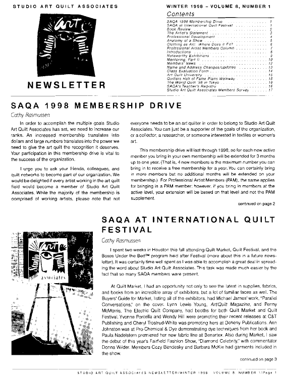 SAQA Journal 1998 Vol. 8 No. 1