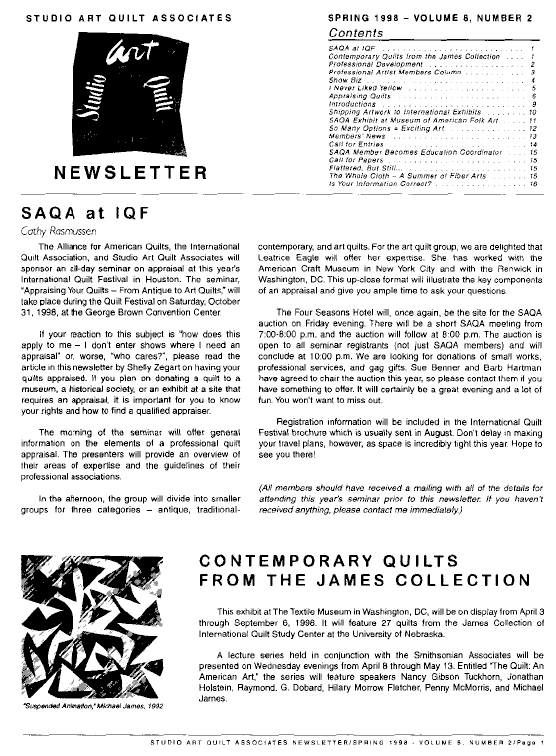 SAQA Journal 1998 Vol. 8 No. 2