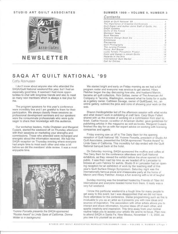 SAQA Journal 1999 Vol. 9 No. 3