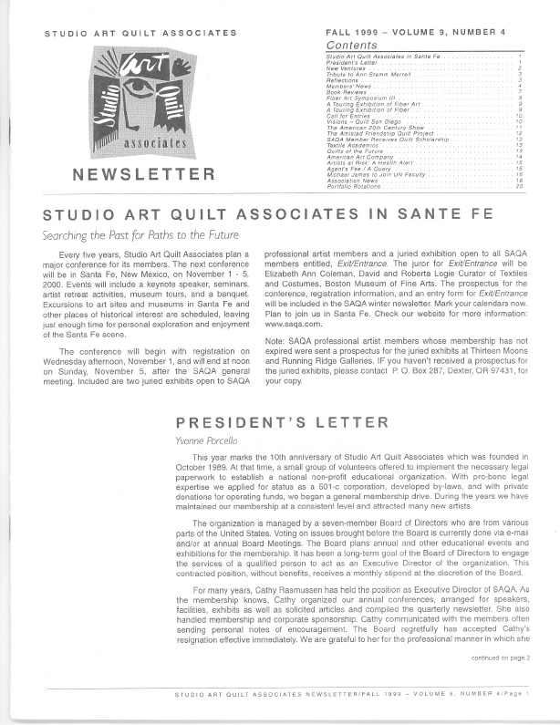 SAQA Journal 1999 Vol. 9 No. 4