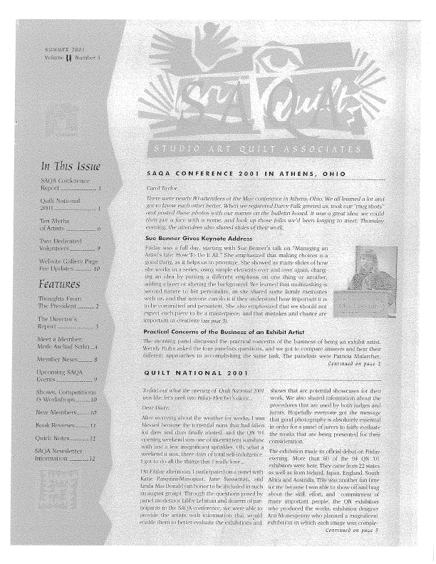 SAQA Journal 2001 Vol. 11 No. 3
