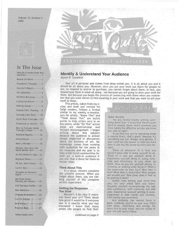 SAQA Journal 2002 Vol. 12 No. 3 Part 1
