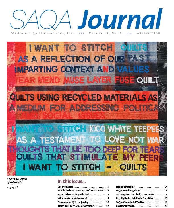 SAQA Journal 2009 Vol. 19 No. 1