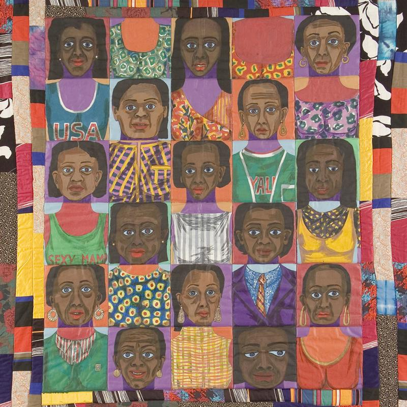 Faith Ringgold - The Women: Mask Face Quilt #1