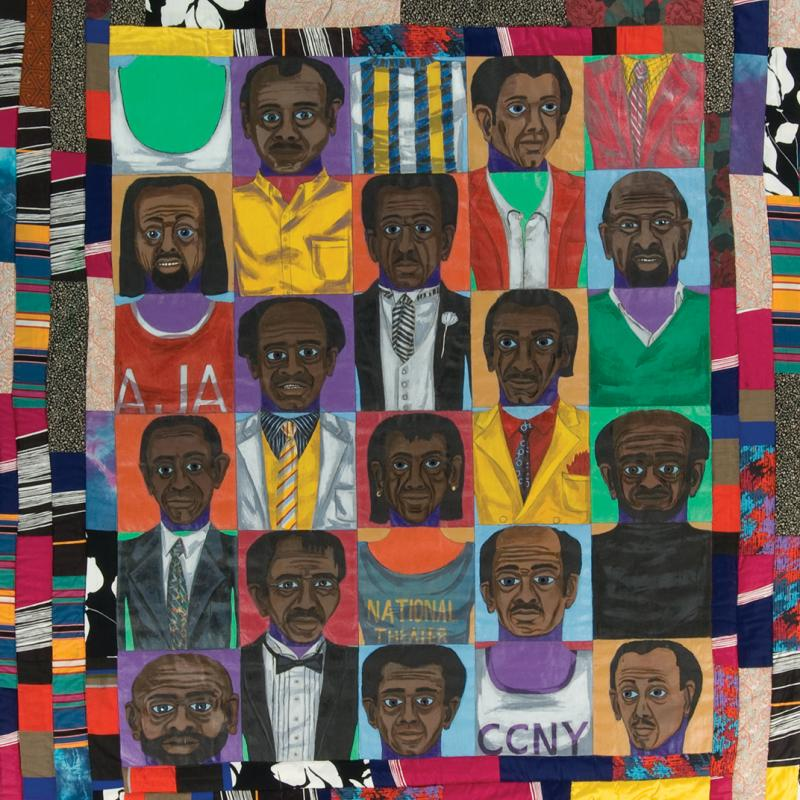 Faith Ringgold -  The Men: Mask Face Quilt #2