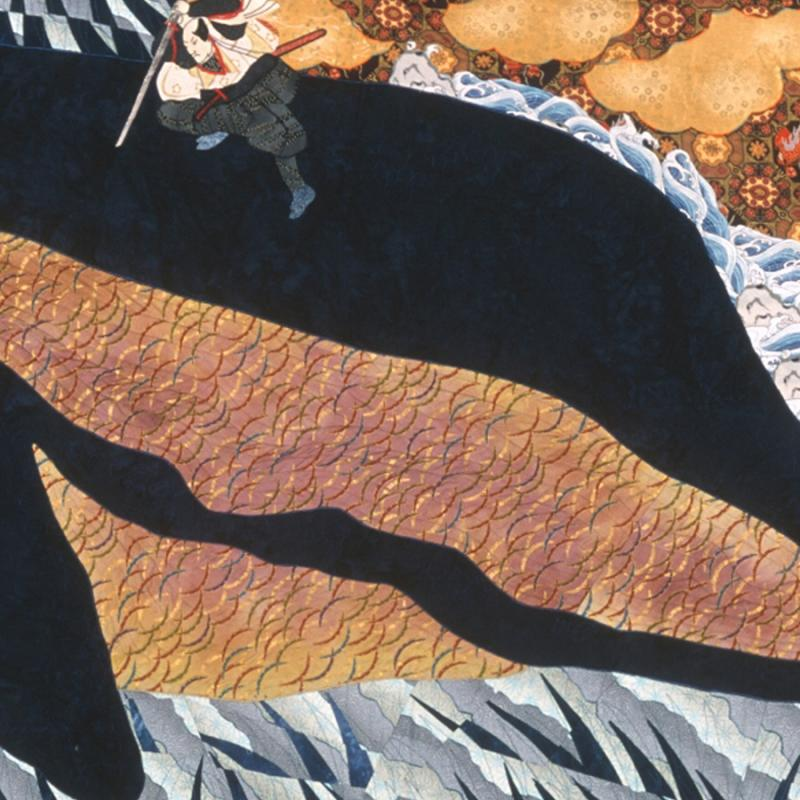 Barbara Schneider - Musashi on the Back of a whale