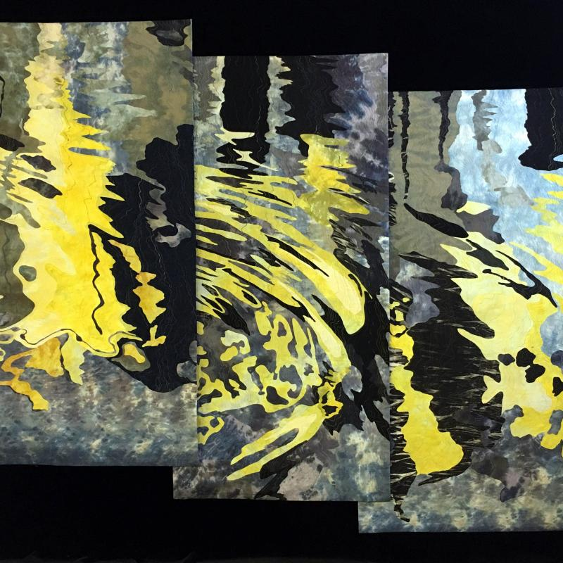 Barbara J. Schneider - Reflections in a Canal, Venice, Triptych