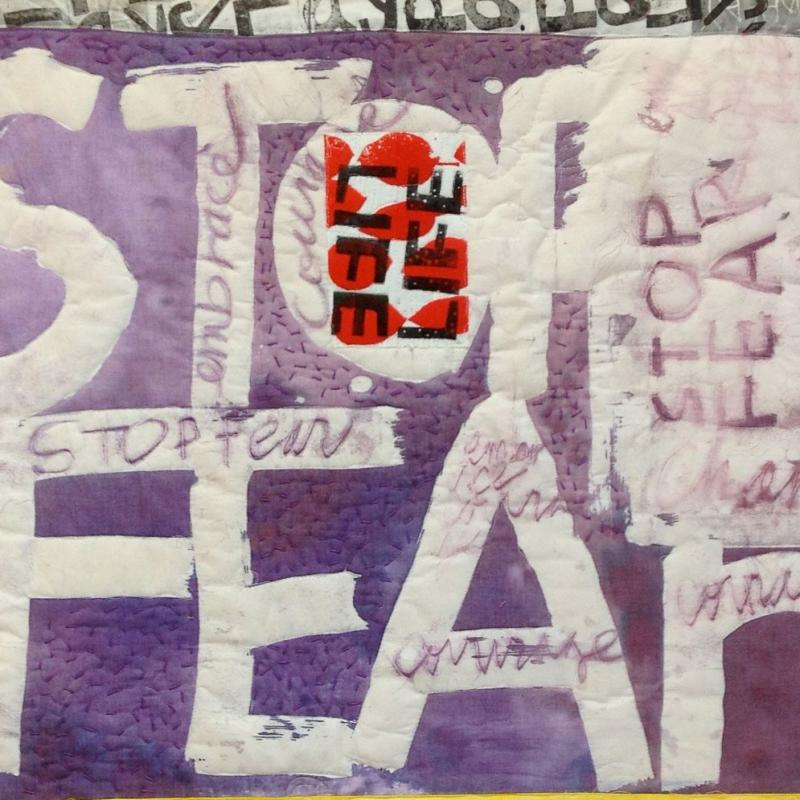 Susie Monday - Stop Fear (Homage to Sister Corita Kent)