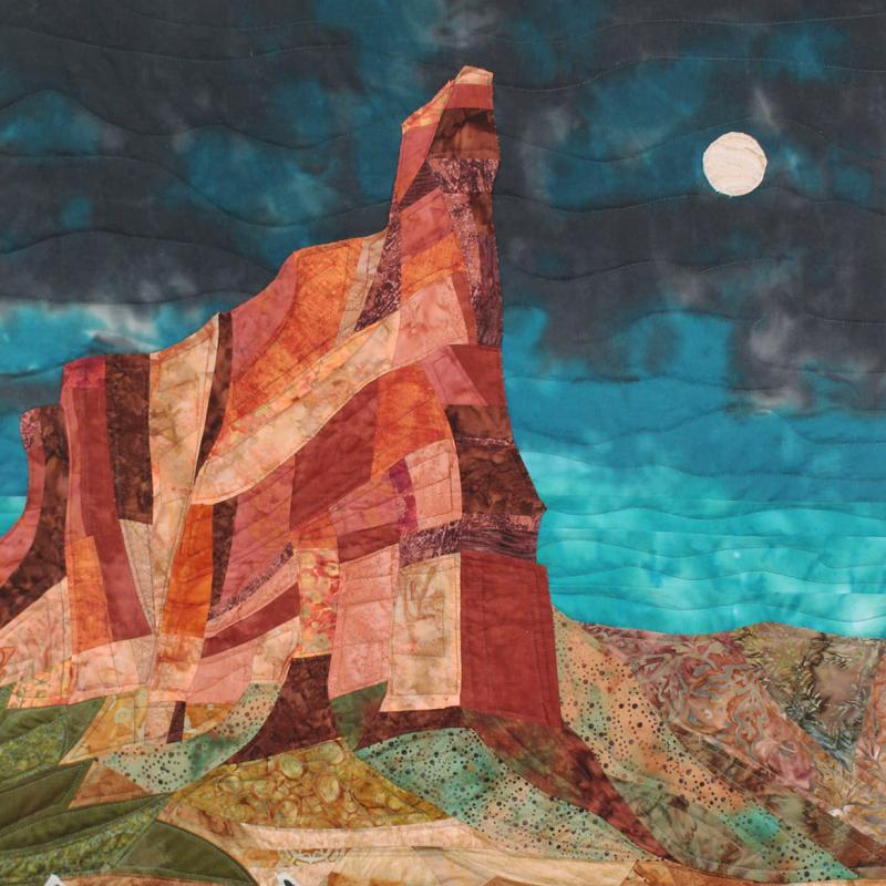 Ellie  Kreneck - Moonrise in a West Texas Canyon
