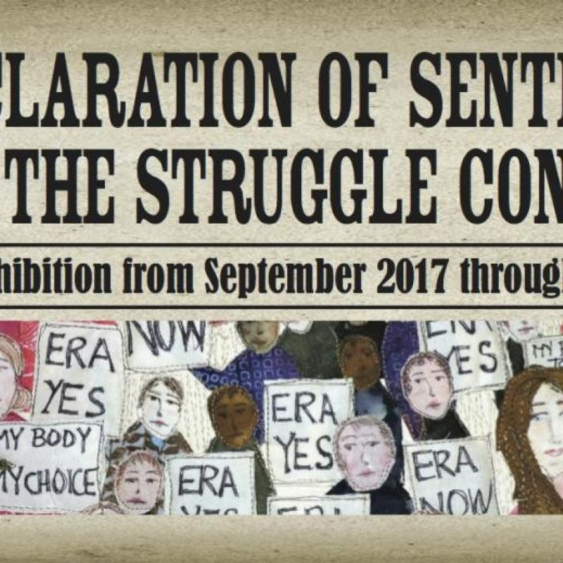Declaration of Sentiments... Regional Exhibition--popular, timely, unique!