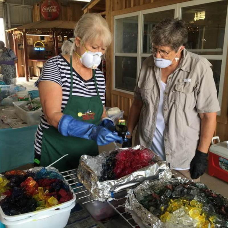 Caprock Members Ice Dyeing Fabric